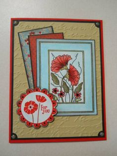 Holly Berry House Originals Art Stamp-- Lovely!  SC322 Poppies For You