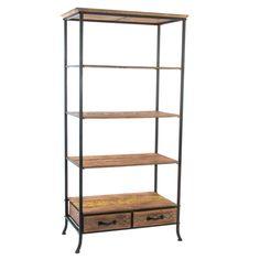 """On aimera ce petit meuble étagère du thème """"Alpin"""" de chez Kotécaz... Ladder Bookcase, Retro, Decoration, Shelving, Industrial, Home Decor, Bar, Natural, Ideas"""