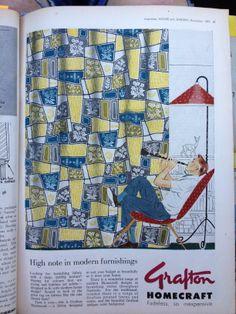 Grafton Fabric ad - Aust House & Garden Nov 1957
