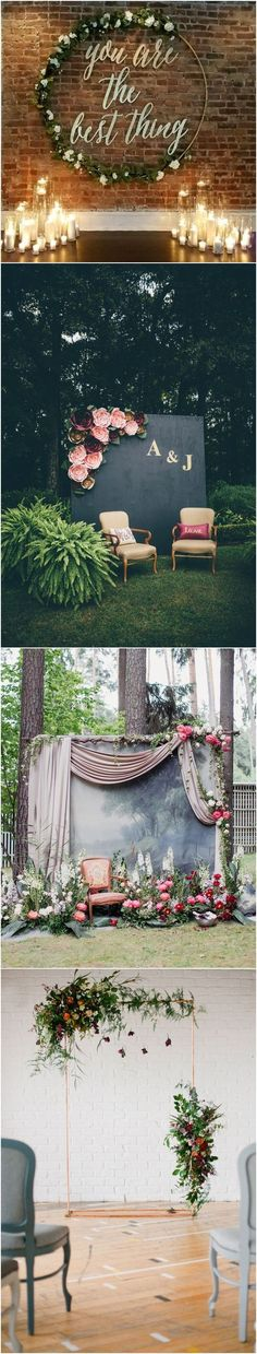 unique wedding ideas - wedding backdrop ideas / http://www.deerpearlflowers.com/wedding-backdrop-ideas-from-pinterest/