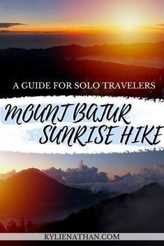 A sunrise hike up Mount Batur Volcano in Bali, Indonesia is one of the BEST things to add on your Bali itinerary. Here's everything you need to know for your sunrise hike up Mount Batur! Mount Batur Bali | Mount Batur Sunrise Hike | Mount Batur Sunrise | Mount Batur Bali Sunrises | Bali | Sunrise Hike | Bali Sunrises | Volcano | Trekking | Bali Trekking | Bali Photo Bali Travel, Travel Alone, Japan Travel, China Travel Guide, India Travel Guide, Hiking Photography, Best Places To Travel, Sunrises, Volcano
