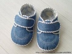 como hacer zapatos para bebe con tela de jeam - Buscar con Google
