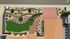 3D Landscape Design. Multi Level Front Yard. This Front Yard Had A 6u0027