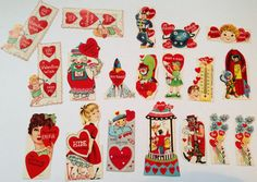 Vintage Valentine's Day Cards  Lot of 19 by TheGOOSEandTheHOUND