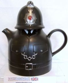 Carlton Ware Traditional Policeman Novelty Teapot with Red Central Badge