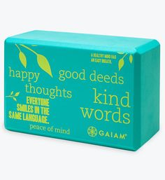 Be Inspired Yoga Block from Gaiam ($11.98) I chose this item because I found Gaiam's yoga blocks as a suggestion from the Turning Green Sustainable Dorm Checklist.  This company supports non-toxic, eco-friendly yoga products.  *Retail Outlets: Target, SportsAuthority, Dick's Sporting Goods, Kohl's, and REI. http://www.gaiam.com/product/be-inspired-printed-yoga-block/05-60306.html?cgid=3010500&start=13