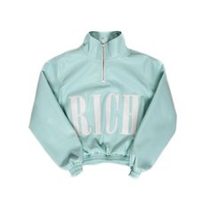 COTTON CANDY HIGHNECK JACKET WOMEN LIGHT BLUE ($251) ❤ liked on Polyvore featuring outerwear, jackets, tops, coats & jackets, long sleeves, cotton jacket, long sleeve jacket, high neck jacket, blue jackets and light blue jacket