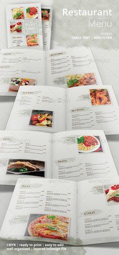 Restaurant Food Menu - Food Menus Print Templates