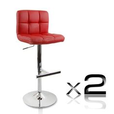 Brandfashion Online   Fashion and Accessories for Everyday - Deluxe PU Leather Swivel Grid Bar Stools Red (2 Sets), $120.00 (http://www.lavendibags.com/deluxe-pu-leather-swivel-grid-bar-stools-red-2-sets/)