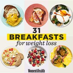 Exactly What You Need To Eat For Breakfast If You Want To Lose Weight 31 Healthy Breakfast Recipes That Will Promote Weight Loss All Month Long Breakfast Desayunos, Easy Healthy Breakfast, Healthy Snacks, Healthy Recipes, Breakfast Ideas, Healthy Breakfasts, Healthy Breakfast Recipes For Weight Loss, Healthy Weight, Healthy Cooking