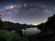 The Milky Way seen from the island of Réunion in the Indian Ocean, one of the highly commended entries in the Royal Observatory's astronomy photographer of the year competition. Photograph: Luc Perrot