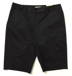 Van Heusen Studio Women's Black Bermuda, Walking Shorts Size 4 NWT #VanHeusen #BermudaWalking