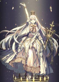 【崩壊王国の歌姫】by: ザザ id=1490040551 pixiv,插画,二次元少女
