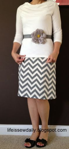 Life is {Sew} Daily: Chevron Skirt {Tutorial}