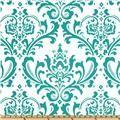 Premier Prints Dandelion True Turquoise - Discount Designer Fabric - Fabric.com