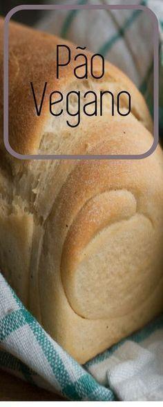Receita fácil de pão vegano! Com somente 6 ingredientes este pão vai te surpreender no sabor! O óleo de coco pincelado na casquinha confere um sabor incrível e uma casquinha crocante! #receita #pãocaseiro #pão #vegano