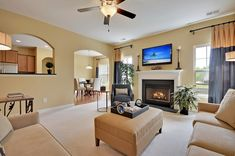 Beautiful living space from @lennarchas in Fairmont South