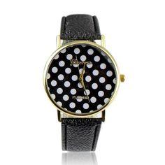 Orologio da polso Geneva nero a pois 12€