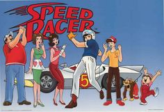 An awesome poster of the cast from the classic anime cartoon Speed Racer! Published in 2003. Fully licensed. Ships fast. 24x36 inches. Need Poster Mounts..?