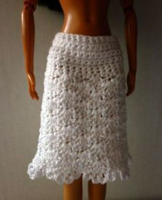Barbie-skirt ~ you can adjust this pattern to make it longer or shorter ~ pattern is FREE - CROCHET
