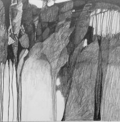 art and inspiration Abstract Pencil Drawings, Graphite Drawings, Abstract Wall Art, Abstract Landscape, Art Drawings, Dragon Drawings, Abstract Paintings, Sketchbook Inspiration, Art Sketchbook