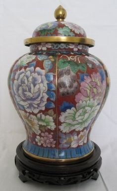 "10"" Cloisonne Cremation Urn Hong Kong Red with Purple, Pink and Green Floral Design (BCURH9220824-002) by bluRAFIA, http://www.amazon.com/dp/B0041F81VA/ref=cm_sw_r_pi_dp_i5pIpb009KFAF"