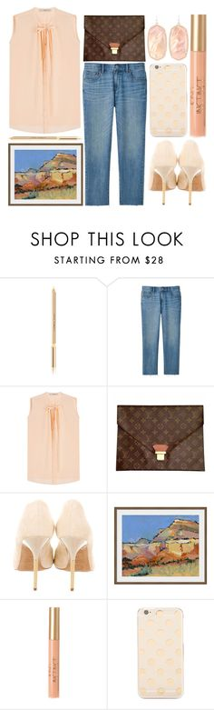 """""""classy look"""" by foundlostme ❤ liked on Polyvore featuring Dolce&Gabbana, Uniqlo, Etro, Louis Vuitton, Pollini, Dot & Bo, Kate Spade, Kendra Scott, smartcasual and falltrend"""
