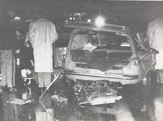 Are there any Pictures of Ernie Kovacs wrecked Corvair Wagon? Old Vintage Cars, Old Cars, Ernie Kovacs, Accident Injury, Car Crash, Ambulance, Abandoned, Death, Scene