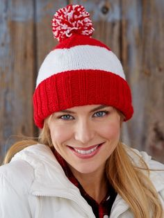 Patriot Stripes Hat | Yarn | Free Knitting Patterns | Crochet Patterns | Yarnspirations