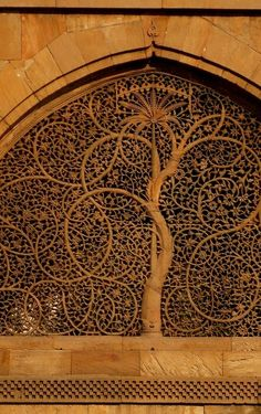 Siddi Sayed Mosque in Ahmedabad, India. The mosque is famous for its stone carved latticework windows. #MostBeautifulArchitecture #Mosques