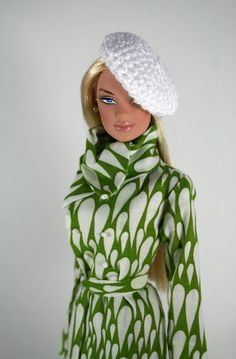 JP Spring Coat for Barbie with Beret by ChicBarbieDesigns on Etsy, $22.99