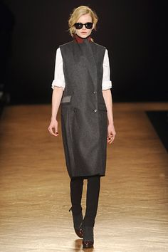 And this one.  In fact, I'm pretty obsessed with sleeveless coats.  #PaulSmith #LFW