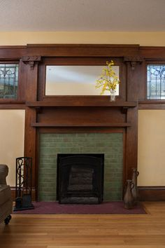 arts and crafts fireplace - Google Search