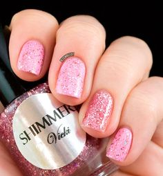 Shimmer Nail Polish Vicki Breast Cancer by ShimmerPolish on Etsy