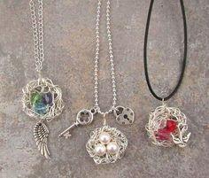 diy-wire-wrapped-bird-nests-jewelry-1.jpg 736×628 pixels