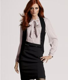 I have a job interview coming up and want to be stylish : )  Love this...I think my mom had a blouse like this in the late 70's.