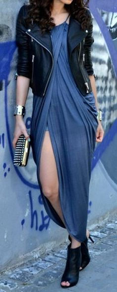 Moto & Wrap Maxi Dress <3