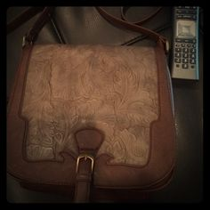 Crossbody  Bag Designed/Purchased in Spain LIKE NEW gift from ex mother-in-law needs new home. Gorgeous design on front. NOT genuine leather. Misako Bags Crossbody Bags