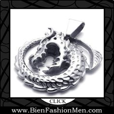 Mens Pendants | Mens Necklaces | Mens Jewelry | Mens Accessories | Mens Fashion |  Necklace on Men | Jewelry on Men | Jewelery for Men | Necklaces on Men | Men Jewellry ♦  KONOV Jewelry Tribal Biker Mens Stainless Steel Dragon Pendant Necklace $7.99
