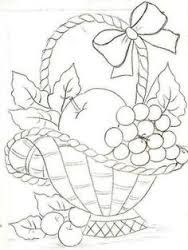 Image result for how to draw a fruit basket
