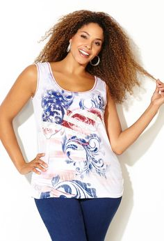 Plus size patriotic dress