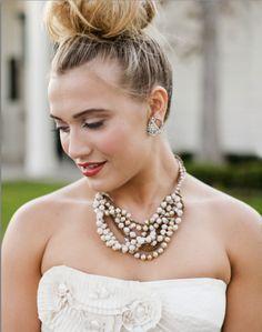 Resultado de imagem para bridal top knot bun