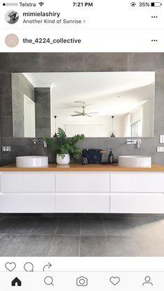 Vanities Sink Ideas - Floating Vanity - Rustic Modern Luxury - Modern Farmhouse Vanity Sink - Two Small Bathroom Sink Vanity - Built-in Vanities Sink Large Bathrooms, Bathroom Layout, Modern Bathroom Design, Bathroom Interior Design, Small Bathroom, Dyi Bathroom, Bathroom Vanities, Bathroom Hardware, Bathroom Toilets