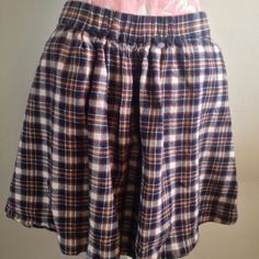 J.Crew Red Blue Yellow Tartan Plaid A Line Wool Cotton Blend Mini Skirt M #JCrew #Mini