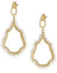"Azaara ""Delicate"" Freshwater Pearl Teardrop Earrings"