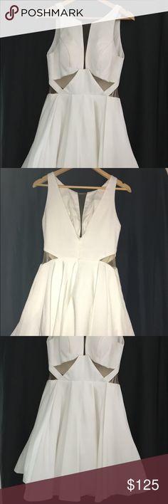 Sherri Hill dress White Sherri Hill white sheer dress Sherri Hill Dresses Prom