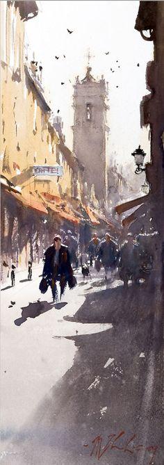 THU HANG OUT GROUP: Joseph Zbukvic Watercolor