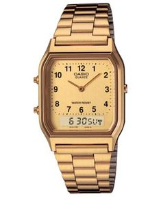 57680b6f3a2 G-Shock Women s Casio Analog-Digital Gold-Tone Stainless Steel Bracelet  Watch 29.8mm Jewelry   Watches - Watches - Macy s