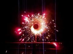 Ring of Fire Catherine Wheel Firework Guy Fawkes Night, Bonfire Night, The 5th Of November, Fireworks, Landscape, Flowers, Wheels, Collections, Ring