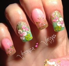 Acrylic nails by Veronica Vargas